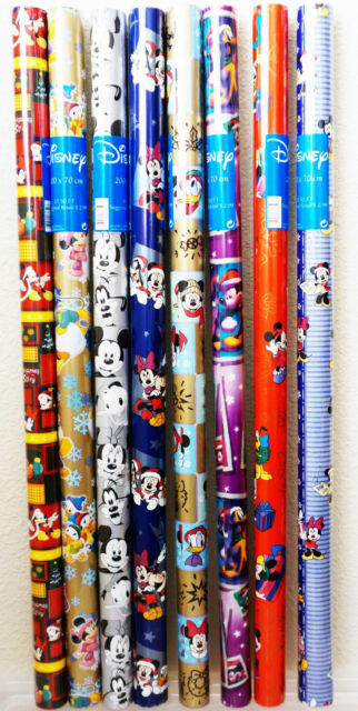 Disney Mickey Christmas Holiday Gift Wrapping Papers Minnie Donald Goofy Pluto