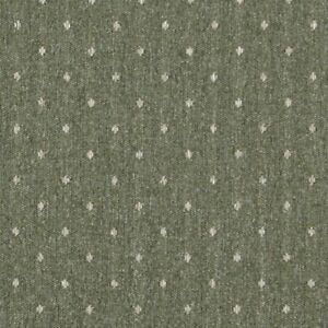C618 Green And Beige Dotted Country Style Upholstery Fabric By The