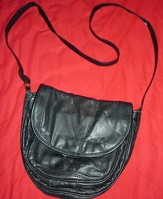 Handtasche, Damentasche, modisch, schwarz, Patchwork Design