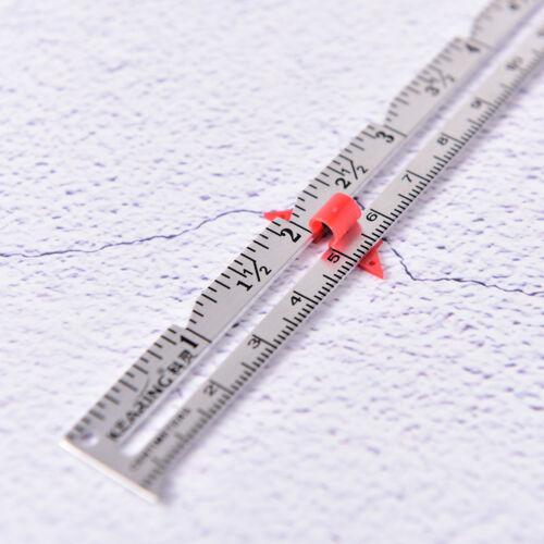 1X 15cm Hemline Sewing Gauge Ruler Cloth Sewing Measure Gauging Tailoring ToolFE