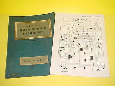 1950 1951 1952 1953 1954 1955 1956 Chrysler Imperial Convertible Wiring Diagrams Ebay
