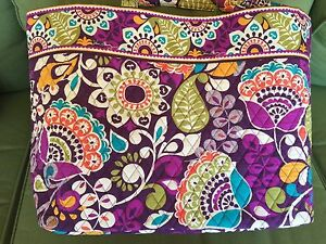 8c5a7f13b29a Vera Bradley Grand Tote Plum Crazy Very Popular Retired Pattern for ...