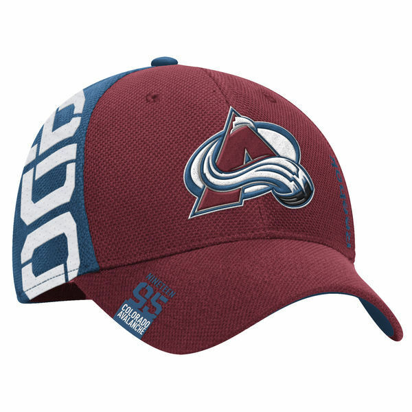 29d51443878 Colorado Avalanche Reebok Maroon NHL Draft Structured FlexFit Hat Cap L XL
