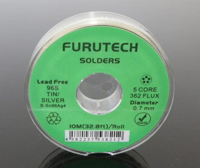 Genuine 1 Roll S070-10 Furutech 10M 4% Silver Sn96 Ag 4 Solder Soldering Wire