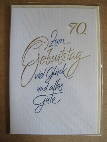 Greeting Card Happy Birthday and everything good 70 years Folding c0101