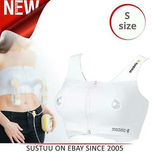 Medela-Expression-Bustier-Women-039-s-Hands-Free-Pumping-Nursing-Bra-White-Small