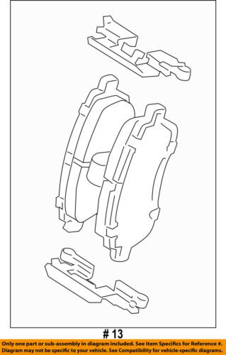 FORD OEM 11-18 Fiesta Brake-Front Pads AE8Z2001C