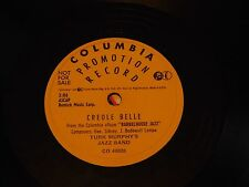 Turk Murphy's Jazz Band - Scarce Promo Columbia 78 in E Condition - Creole Belle