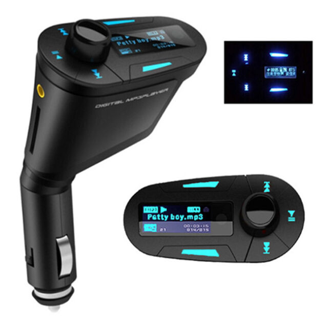 LCD kit Car MP3 Player Wireless FM Transmitter With USB SD MMC Slot remote Blue