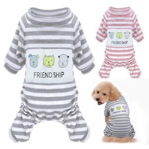 Suave-Algodon-Pijama-para-Pequeno-Perro-Mascota-Perrito-Cachorro-Pijamas-M-2XL