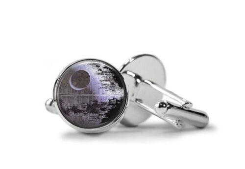 Star Wars TIE FIGHTER /& Death Star Boutons de manchette Dark Vader Leia Skywalker Free p/&p