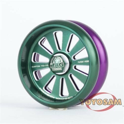 Kundenspezifische produkte mag turbine yo - yo - grün und lilat
