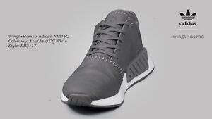 f50c9a9e7  199.99 Adidas x Wings + Horns Men NMD R2 gray Ash Ash Off White ...
