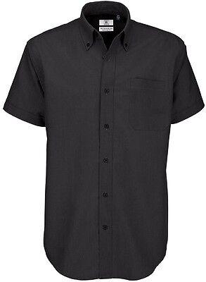 sale retailer c5126 93d7d B&C Marken Hemd Herren Männer Kurzarm Qualitäts Hemd schwarz S M L XL XXL  NEU | eBay