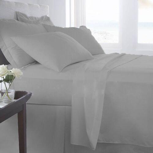 1000 Thread Count Egyptian Cotton Deep Pocket Sheet Set All Sizes Silver Grey