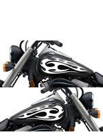 Motorcycle Gas Tank Badge Flame Decal Sticker Set 13x 5.5 Universal Mf405