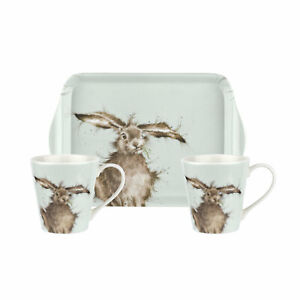 Wrendale-Designs-Mug-and-Tray-Set-Hare-Cute-Animals-Tea-Coffee-Matching-Gift-Set