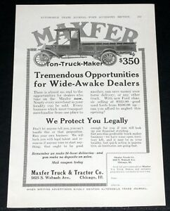 Image Is Loading 1916 OLD MAGAZINE PRINT AD MAXFER TON TRUCK