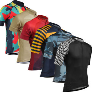 Short-Sleeve-Mens-Cycling-Jersey-Outdoor-Sports-Shirt-Jersey-Quick-Dry
