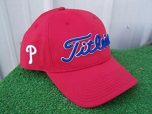 4559044e Details about Titleist Philadelphia Phillies MLB Performance Adjustable  Snap Back Golf Hat Cap