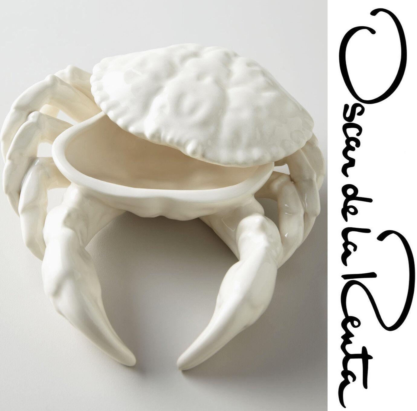 165 OSCAR DE LA RENTA Ivoire crabe condiment Server 7.5  X 7.5  Handcrafted