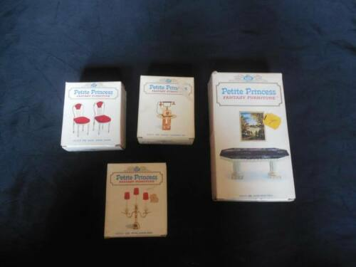 Vintage Lot Petite Princess Fantasy Furniture w Box 44214 44321 44396 44149