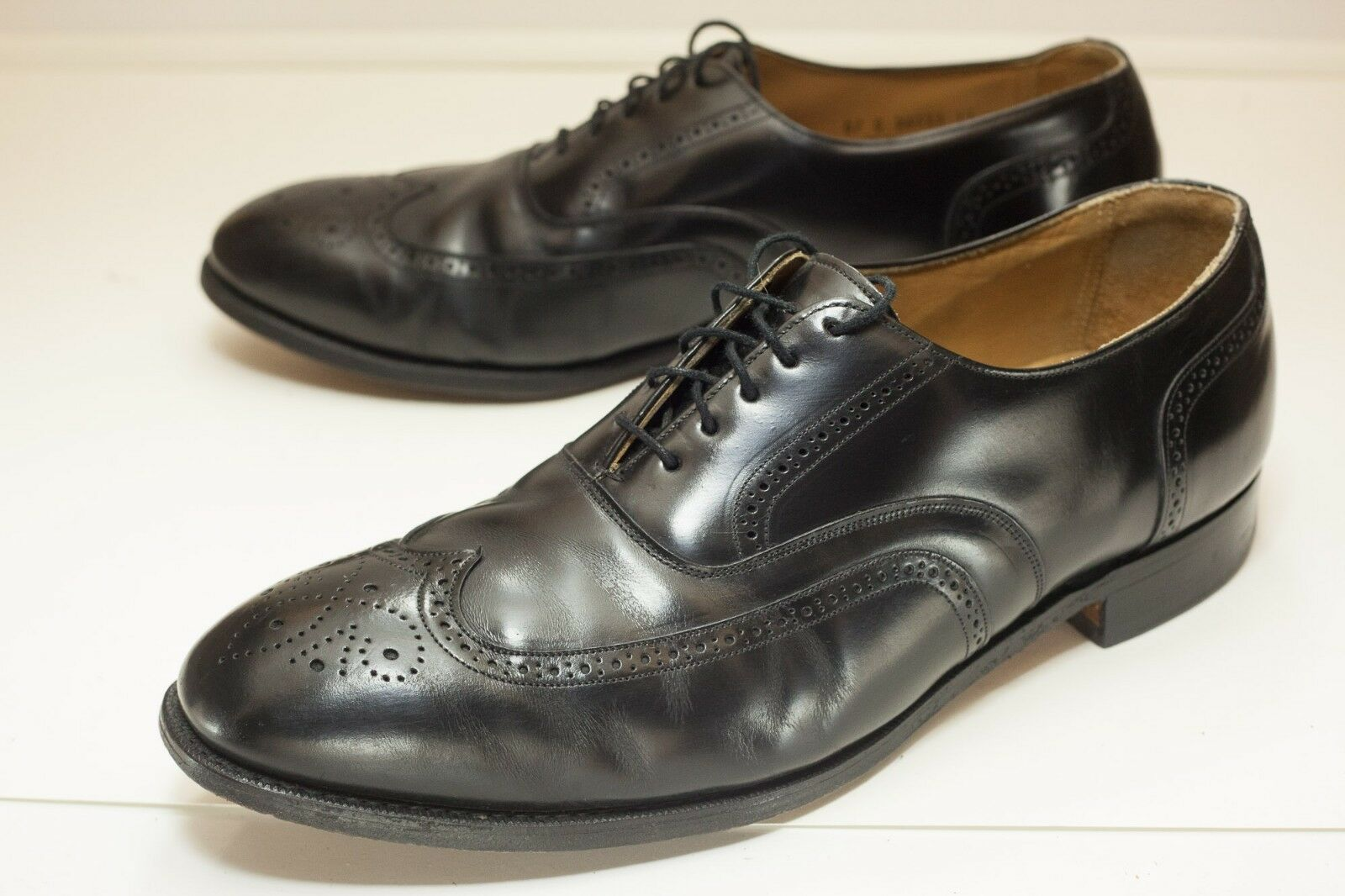 prezzo all'ingrosso Johnston & Murphy US 14 E C nero Wingtip Wingtip Wingtip Oxford Uomo Dress scarpe  forma unica