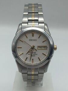 Seiko Conceptual Quartz Silver Steel White Dial Mens Watch SGG719P1 PRE-OWNED