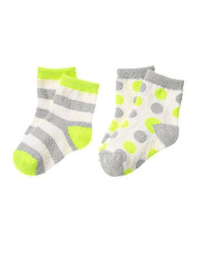 NWT Gymboree yellow gray COZY SKI LODGE fuzzy chenille socks 6 12 24 2T 3T 4T 5T