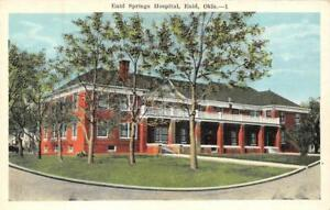 ENID-OK-Oklahoma-ENID-SPRINGS-HOSPITAL-Garfield-Couny-c1920-039-s-Postcard