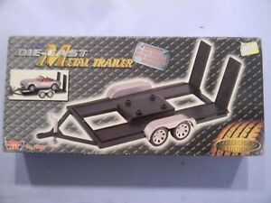 Details about 1/18 Scale Motor Max Metal Trailer