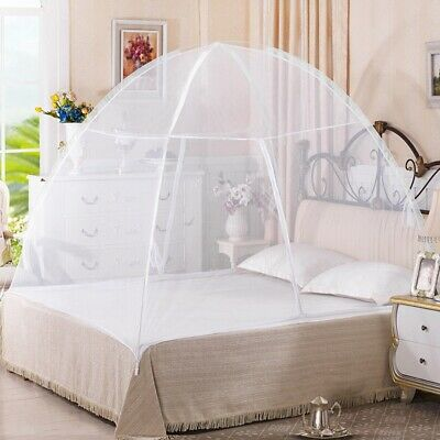Portable Folding Mosquito Net Fits Most King & Queen Size Beds Easy Fold Carry
