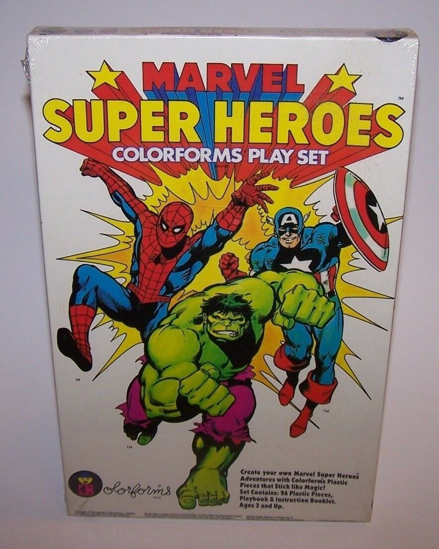 Marvel Super Heroes colorforms Play Set Sealed NIB 1983