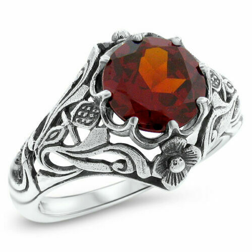 0.37ct Mexican Red Fire Opal /& White Zircon Ring size 9 925 Sterling