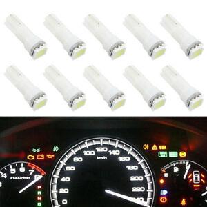 Brand-New-10pcs-T5-Dashboard-Gauge-1SMD-LED-Wedge-Instrument-Panel-Light-Bulb