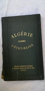 Algerie-carte-de-L-039-etat-major-1893