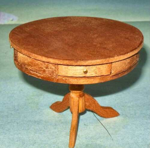 SHAKER PINE DRUM TABLE HANDCRAFTED MUSEUM MINIATURE 2519 DOLLHOUSE FURNITURE