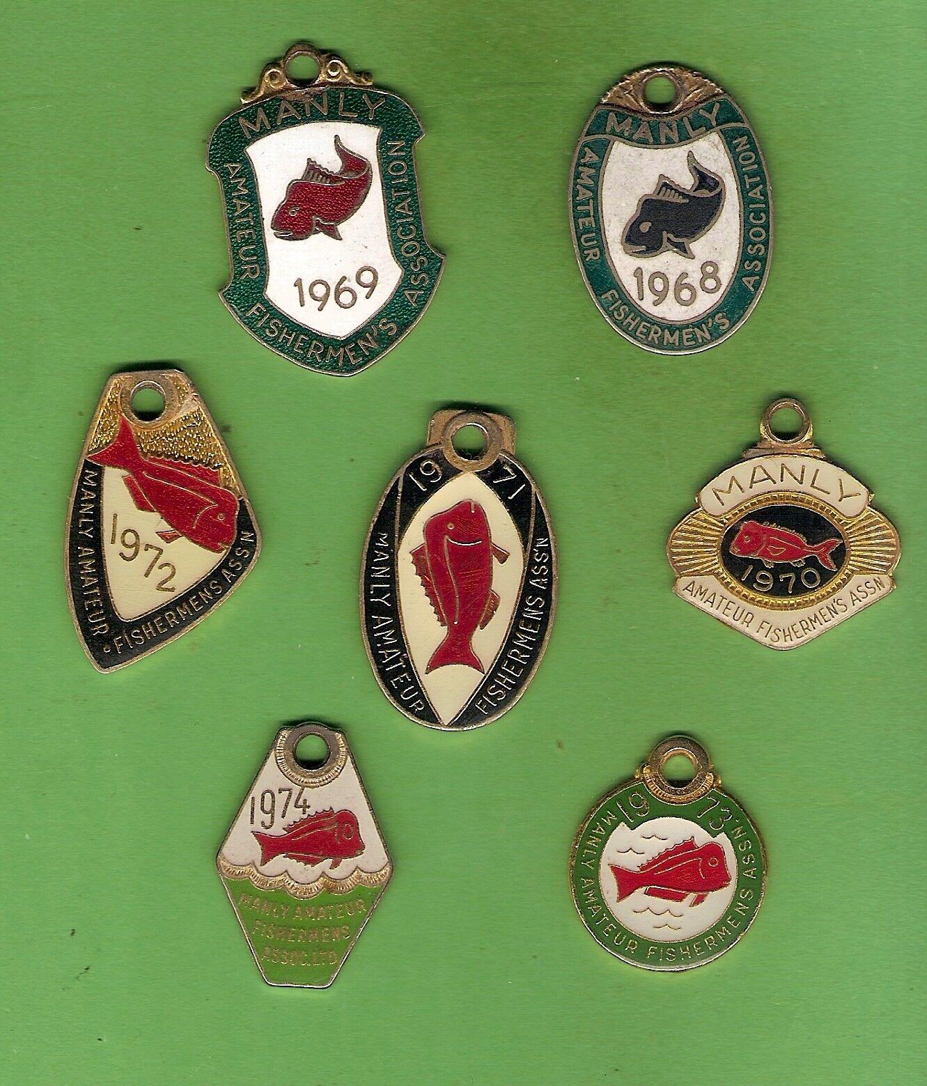 D330. MANLY AMATEAU FISHERHerren FISHING ASSOCIATION BADGES 1968 1968 1968 to 1974 0f8e81