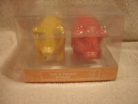 Red And Yellow Pig Salt & Pepper Shakers