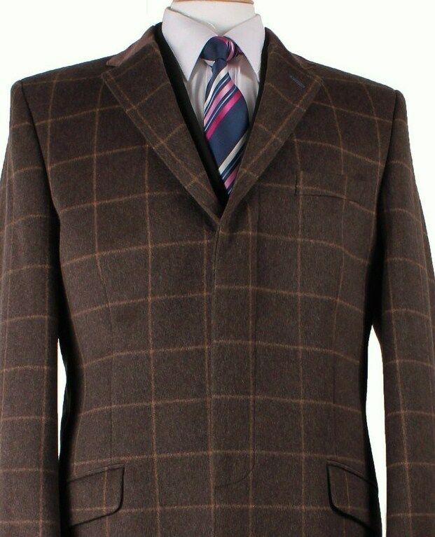 LUXURIOUS Ben Sherman WOOL & CASHMERE Overcoat Coat LARGE NEW