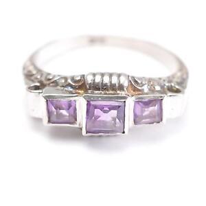Ringgröße 57 Vintage Neueste Mode 835er Silber Ehrlich Art Deco Ring Mit Amethyst