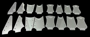 16pc. Acrylic Cigar Box Guitar Headstock Shaping Templates - with tuner holes!
