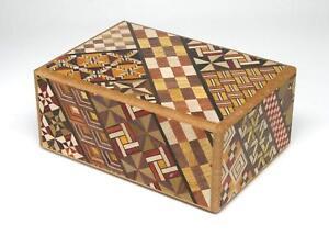 Hakone Yosegi Trick Box 10 Steps Traditional Japanese Wooden Secret Puzzle Box
