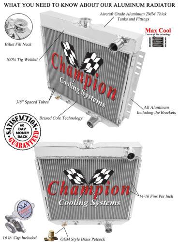 1967 68 69 Mercury Cougar Champion 3 Row Core Alum Radiator