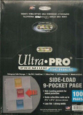 300 ULTRA PRO Premium 9 Pocket Side Load Pages Sheets New in Box