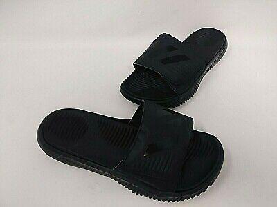 New Mens Spenco Total Support Slide Sandals BlackGray 197H dr