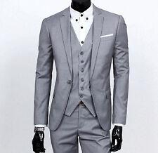 Men's Slim Fit Groom Tuxedo Notch Lapel Best Man Groom Wedding Suits Custom Made