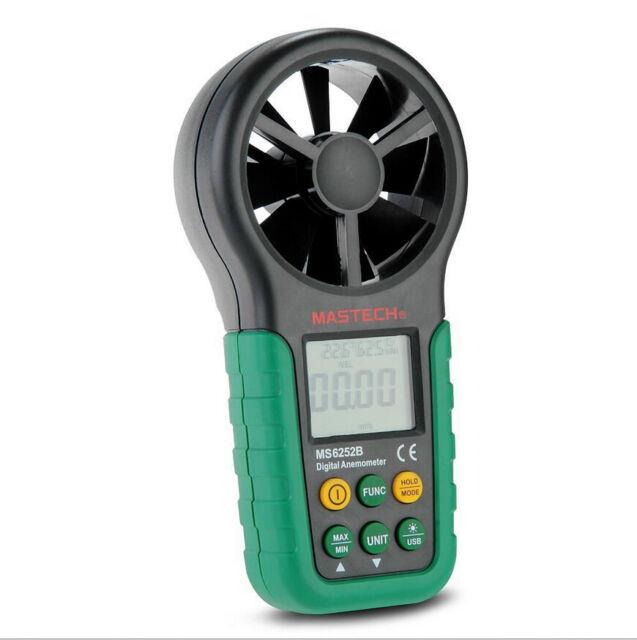 MS6252B Professional Digital Anemometer T&RH sensor Air-Velocity/Flow humidity