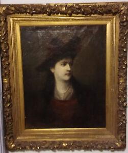 seltenes-Portrait-von-Mary-Vetsera-Ol-auf-Leinwand-um-1888