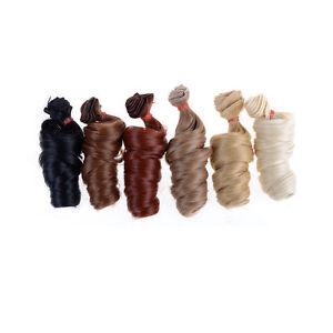 15Cm-Perruques-De-Poupee-Bouclee-Haute-Temperature-Resistant-A-La-Chal-w